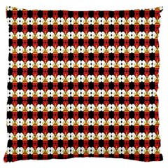 Queen Of Hearts  Hat Pattern King Large Cushion Case (Two Sides)