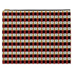 Queen Of Hearts  Hat Pattern King Cosmetic Bag (XXXL)