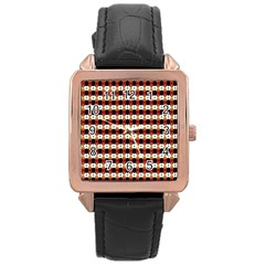 Queen Of Hearts  Hat Pattern King Rose Gold Leather Watch