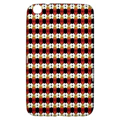Queen Of Hearts  Hat Pattern King Samsung Galaxy Tab 3 (8 ) T3100 Hardshell Case