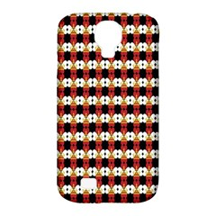 Queen Of Hearts  Hat Pattern King Samsung Galaxy S4 Classic Hardshell Case (PC+Silicone)