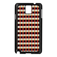 Queen Of Hearts  Hat Pattern King Samsung Galaxy Note 3 N9005 Case (Black)