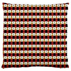 Queen Of Hearts  Hat Pattern King Large Flano Cushion Case (One Side)