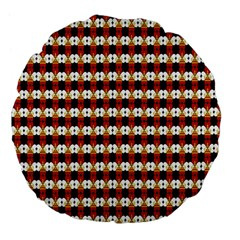 Queen Of Hearts  Hat Pattern King Large 18  Premium Flano Round Cushions