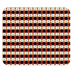 Queen Of Hearts  Hat Pattern King Double Sided Flano Blanket (Small)