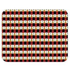 Queen Of Hearts  Hat Pattern King Double Sided Flano Blanket (Medium)