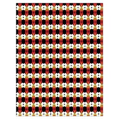 Queen Of Hearts  Hat Pattern King Drawstring Bag (Large)