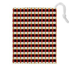 Queen Of Hearts  Hat Pattern King Drawstring Pouches (XXL)