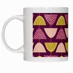 Retro Fruit Slice Lime Wave Chevron Yellow Purple White Mugs