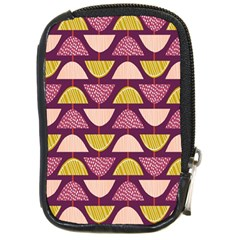 Retro Fruit Slice Lime Wave Chevron Yellow Purple Compact Camera Cases