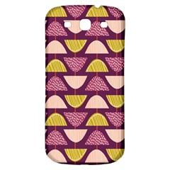 Retro Fruit Slice Lime Wave Chevron Yellow Purple Samsung Galaxy S3 S Iii Classic Hardshell Back Case