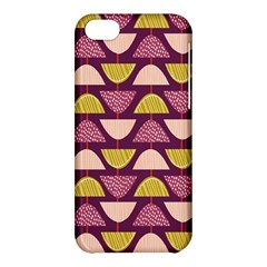 Retro Fruit Slice Lime Wave Chevron Yellow Purple Apple iPhone 5C Hardshell Case