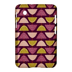 Retro Fruit Slice Lime Wave Chevron Yellow Purple Samsung Galaxy Tab 2 (7 ) P3100 Hardshell Case