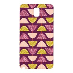 Retro Fruit Slice Lime Wave Chevron Yellow Purple Samsung Galaxy Note 3 N9005 Hardshell Back Case