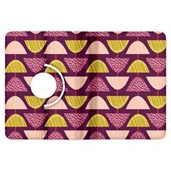 Retro Fruit Slice Lime Wave Chevron Yellow Purple Kindle Fire HDX Flip 360 Case