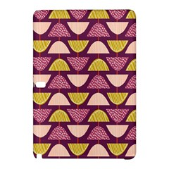 Retro Fruit Slice Lime Wave Chevron Yellow Purple Samsung Galaxy Tab Pro 10.1 Hardshell Case