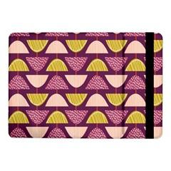 Retro Fruit Slice Lime Wave Chevron Yellow Purple Samsung Galaxy Tab Pro 10.1  Flip Case
