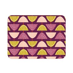 Retro Fruit Slice Lime Wave Chevron Yellow Purple Double Sided Flano Blanket (Mini)