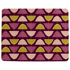 Retro Fruit Slice Lime Wave Chevron Yellow Purple Jigsaw Puzzle Photo Stand (Rectangular)