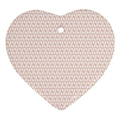 Rose Gold Line Heart Ornament (Two Sides)