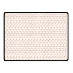 Rose Gold Line Fleece Blanket (Small)
