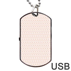 Rose Gold Line Dog Tag USB Flash (Two Sides)