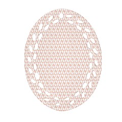 Rose Gold Line Oval Filigree Ornament (Two Sides)
