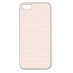 Rose Gold Line Apple Seamless iPhone 5 Case (Clear)