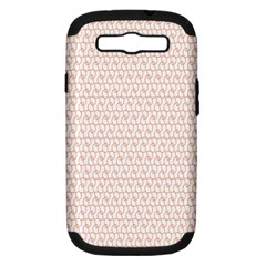 Rose Gold Line Samsung Galaxy S III Hardshell Case (PC+Silicone)