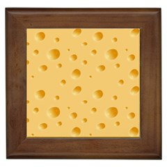 Seamless Cheese Pattern Framed Tiles