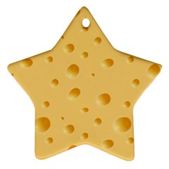 Seamless Cheese Pattern Ornament (Star)