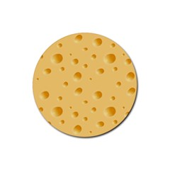 Seamless Cheese Pattern Rubber Round Coaster (4 pack)