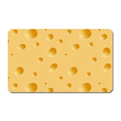 Seamless Cheese Pattern Magnet (Rectangular)