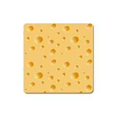 Seamless Cheese Pattern Square Magnet