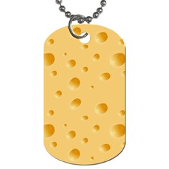 Seamless Cheese Pattern Dog Tag (Two Sides)