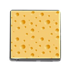 Seamless Cheese Pattern Memory Card Reader (Square)