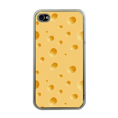 Seamless Cheese Pattern Apple iPhone 4 Case (Clear)