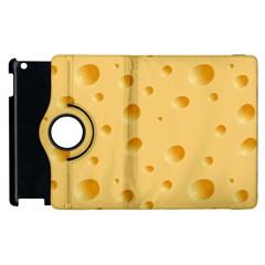 Seamless Cheese Pattern Apple iPad 2 Flip 360 Case