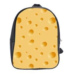 Seamless Cheese Pattern School Bags (XL)