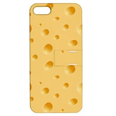 Seamless Cheese Pattern Apple iPhone 5 Hardshell Case with Stand