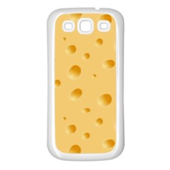 Seamless Cheese Pattern Samsung Galaxy S3 Back Case (White)