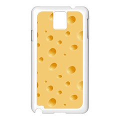 Seamless Cheese Pattern Samsung Galaxy Note 3 N9005 Case (White)