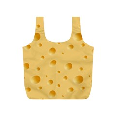 Seamless Cheese Pattern Full Print Recycle Bags (S)