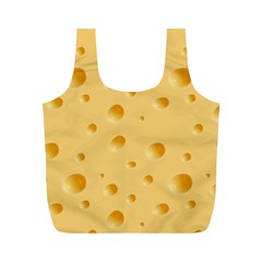 Seamless Cheese Pattern Full Print Recycle Bags (M)