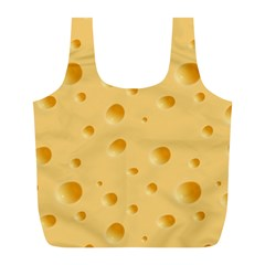 Seamless Cheese Pattern Full Print Recycle Bags (L)