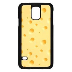 Seamless Cheese Pattern Samsung Galaxy S5 Case (Black)