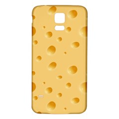 Seamless Cheese Pattern Samsung Galaxy S5 Back Case (White)