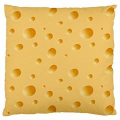Seamless Cheese Pattern Large Flano Cushion Case (Two Sides)