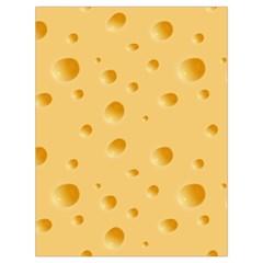 Seamless Cheese Pattern Drawstring Bag (Large)