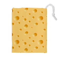 Seamless Cheese Pattern Drawstring Pouches (Extra Large)